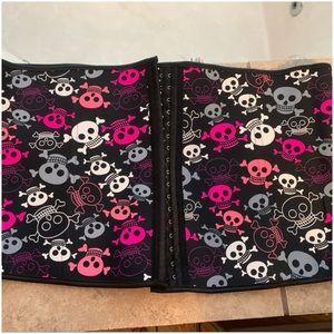 "Black Skull Printed ""Charmian"" Waist ShapeWear 6XL"